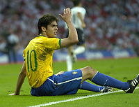 Photo: Richard Lane.<br /> England v Brazil. International Friendly. 01/06/2007. <br /> Brazil's Kaka shows his frustration.