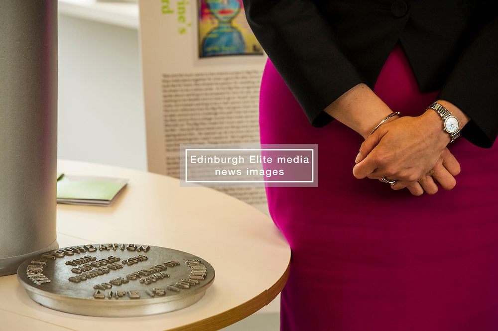 Pictured: <br /> <br /> The First Minister Nicola Sturgeon, MSP, joined people supported by the Thistle Foundation to bury a time capsule to mark the opening of a new health and social care centre. <br /> Ger Harley | EEm 14 June 2016