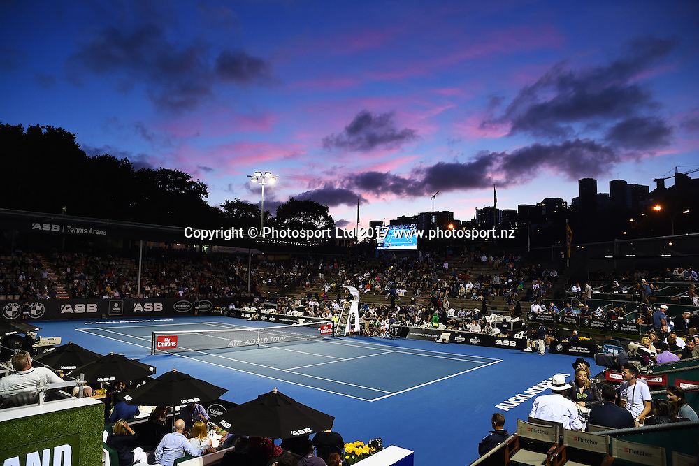 Centre court during the ASB Classic ATP Mens Tournament Day 5 Semi Finals. ASB Tennis Centre, Auckland, New Zealand. Friday 13 January 2017. ©Copyright Photo: Chris Symes / www.photosport.nz