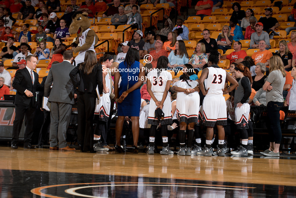 BUIES CREEK, NC - February 25th, 2017 - Campbell Camels and Gardner Webb at Gilbert Craig Gore Arena in Buies Creek, NC. Photo By Bennett Scarborough