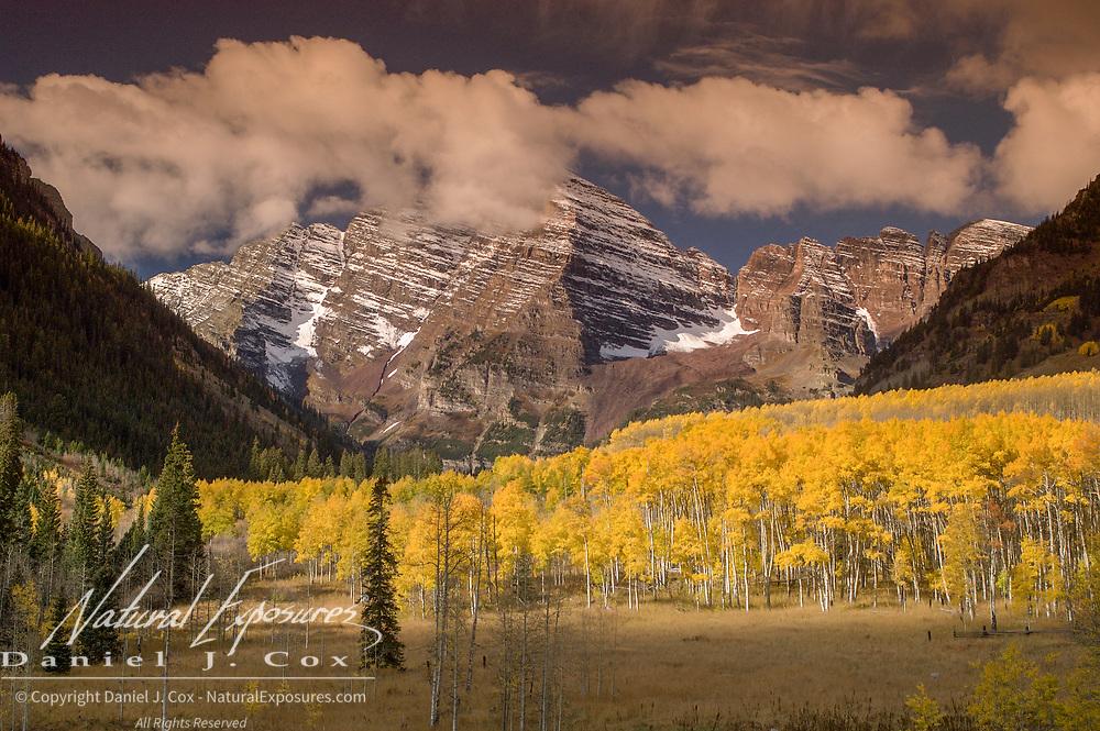 Maroon Bells Snowmass Wilderness near Aspen, Colorado.