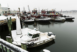 Pisctaqua River tugboats in winter - Portsmouth, New Hampshire.