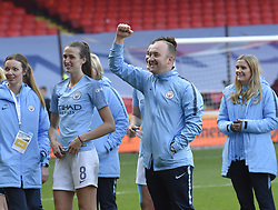 February 23, 2019 - Sheffield, England, United Kingdom - Nick Cushing Manchester City Manager celebrates hi team's victory during the  FA Women's Continental League Cup Final  between Arsenal and Manchester City Women at the Bramall Lane Football Ground, Sheffield United FC Sheffield, Saturday 23rd February. (Credit Image: © Action Foto Sport/NurPhoto via ZUMA Press)