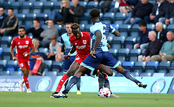 Tammy Abraham of Bristol City goes past Anthony Stewart of Wycombe Wanderers - Mandatory by-line: Robbie Stephenson/JMP - 09/08/2016 - FOOTBALL - Adams Park - High Wycombe, England - Wycombe Wanderers v Bristol City - EFL League Cup