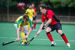 Southgate v Indian Gymkhana - Men's Hockey League - Conference East, Trent Park, London, UK on 24 September 2016. Photo: Simon Parker