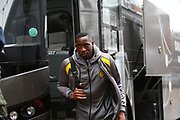Burton Albion's Lucas Akins arrives at the stadium during the EFL Sky Bet Championship match between Ipswich Town and Burton Albion at Portman Road, Ipswich, England on 10 February 2018. Picture by John Potts.