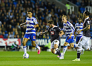 Nick Blackman on the ball in midfield during the Sky Bet Championship match between Reading and Derby County at the Madejski Stadium, Reading, England on 15 September 2015. Photo by David Charbit.