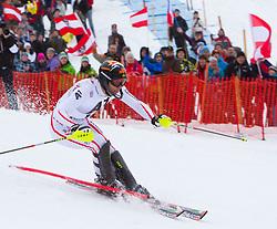 22.01.2012, Ganslernhang, Kitzbuehel, AUT, FIS Weltcup Ski Alpin, 72. Hahnenkammrennen, Herren, Slalom 1. Durchgang, im Bild Mario Matt (AUT) // Mario Matt of Austria during Slalom race 1st run of 72th Hahnenkammrace of FIS Ski Alpine World Cup at 'Ganslernhang' course in Kitzbuhel, Austria on 2012/01/22. EXPA Pictures © 2012, PhotoCredit: EXPA/ Johann Groder