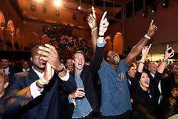 Fabien Gilot and Teddy Riner during the Paris 2024 Party, Lima, Peru, on September 13, 2017. Photo by Paris 2024/ABACAPRESS.COM