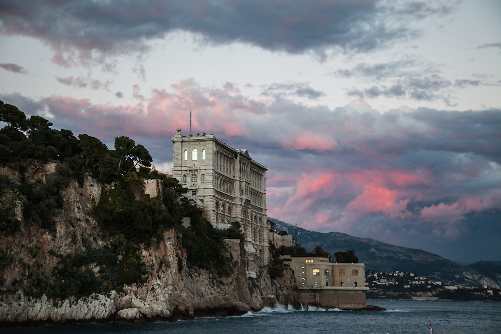 Oceanographic Museum, Monaco at sunset