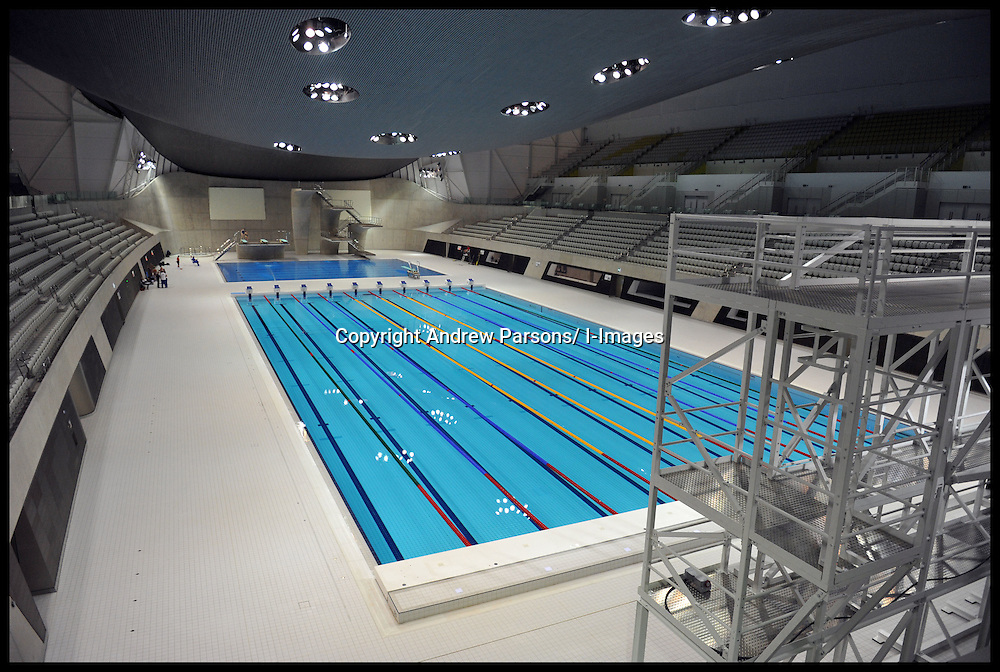 General view of the Olympic swimming pool at the Olympic Aquatic Centre in the Olympic City in Stratford in East London, Monday January 9, 2012. Photo By Andrew Parsons/ i-Images