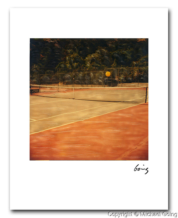 Floating Tennis Ball 1987. 8x10 signed archival pigment print free shipping USA.
