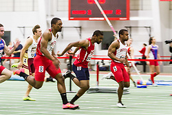 Boston University Multi-team indoor track & field, men 60 meter prelim, heat 2, BU, 2423