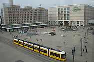 Public transport at the Alexander square in Berlin
