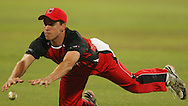 Looking for a catch Cullen Bailey dropped during match 11 of the Airtel CLT20 between The South Australian Redbacks and The Royal Challengers Bangalore held at Kingsmead Stadium in Durban on the 17 September 2010..Photo by: Steve Haag/SPORTZPICS/CLT20.