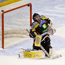 Fabian Weinhandl (Moser Medical Graz 99ers, #31) during of ice-hockey match between Moser Medical Graz 99ers and HDD Tilia Olimpija in 11th Round of EBEL league, on October 14, 2011 at Eisstadion Graz-Liebenau, Graz, Austria. (Photo By Matic Klansek Velej / Sportida)