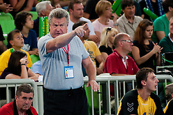 Leonid Zakharov, head coach of Ukraine, during handball match between National teams of Slovenia and Ukraine of 2012 EHF Men's European Championship Play-off, on June 12, 2011 in Arena Stozice, Ljubljana, Slovenia. (Photo By Matic Klansek Velej / Sportida.com)