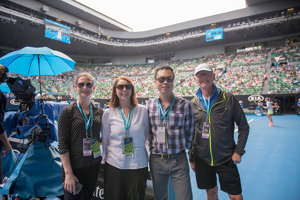 Hospitality on court on day ten of the 2018 Australian Open in Melbourne Australia on Wednesday January 24, 2018.<br /> (Ben Solomon/Tennis Australia)