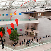 Interior of the East Wing of the National Gallery of Art in Washington DC.