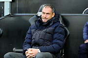 Reading manager Paul Clement looking concerned before the EFL Sky Bet Championship match between Swansea City and Reading at the Liberty Stadium, Swansea, Wales on 27 October 2018.