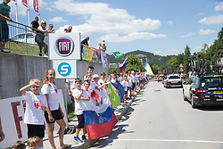 during the last Stage 4 of 24th Tour of Slovenia 2017 / Tour de Slovenie from Rogaska Slatina to Novo mesto (158,2 km) cycling race on June 18, 2017 in Slovenia. Photo by Vid Ponikvar / Sportida