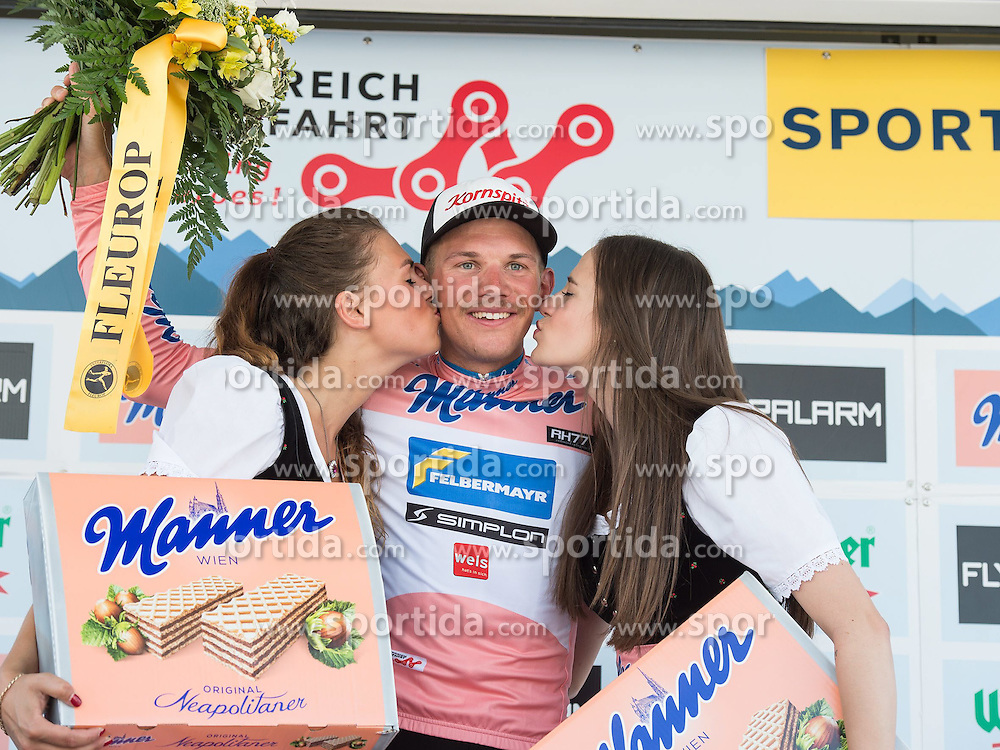 05.07.2015, Scheibbs, AUT, Österreich Radrundfahrt, 1. Etappe, Mörbisch nach Scheibbs, im Bild Matthias Krizek (AUT, Team Felbermayr Simplon bester Österreicher) // Matthias Krizek of Austria during the Tour of Austria, 1st Stage, from Mörbisch to Scheibbs, Austria on 2015/07/05. EXPA Pictures © 2015, PhotoCredit: EXPA/ Reinhard Eisenbauer