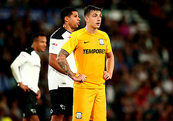 Jordan Hugill of Preston North End - Mandatory by-line: Robbie Stephenson/JMP - 15/08/2017 - FOOTBALL - Pride Park Stadium - Derby, England - Derby County v Preston North End - Sky Bet Championship