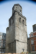 The early 13th century belfry in Boulogne-sur-Mer, Pas-de-Calais, France. This is one of a group of 56 belfries in Belgium and northern France listed as a Unesco World Heritage Site. © Rudolf Abraham