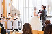 Västerländskt bröllop på Washington Hotell i Iwaki, Japan.