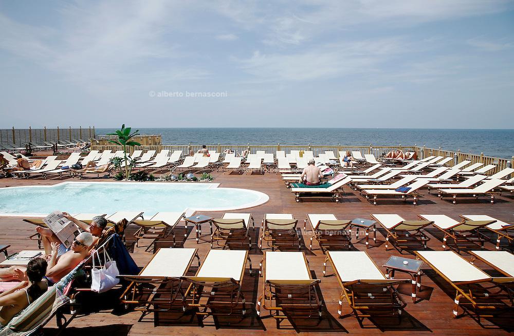 Marina di Varcaturo, sea shore close to the city of Naples.