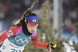 February 11, 2018 - Pyeongchang, GANGWON, SOUTH KOREA - Feb 10, 2018-Pyeongchang, South Korea-Mun Ji Hee of South Korea action on the snow during an Olympic Biathlon Women Sprint 7.5Km at Biathlon Center in Pyeongchang, South Korea. (Credit Image: © Gmc via ZUMA Wire)