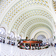 Interior of Union Station, Washington DC.