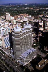 Stock photo of an aerial of the hospitals in the Texas Medical Center
