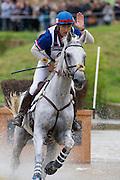 Rodolphe Scherer, (FRA), Makara de Montiege - Eventing Cross Country test - Alltech FEI World Equestrian Games™ 2014 - Normandy, France.<br /> © Hippo Foto Team - Leanjo de Koster<br /> 31/08/14