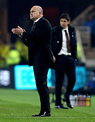Hull City manager Mike Phelan rubs his hands together as Middlesbrough manager Aitor Karanka walks back to the dugout - Mandatory by-line: Robbie Stephenson/JMP - 05/12/2016 - FOOTBALL - Riverside Stadium - Middlesbrough, England - Middlesbrough v Hull City - Premier League