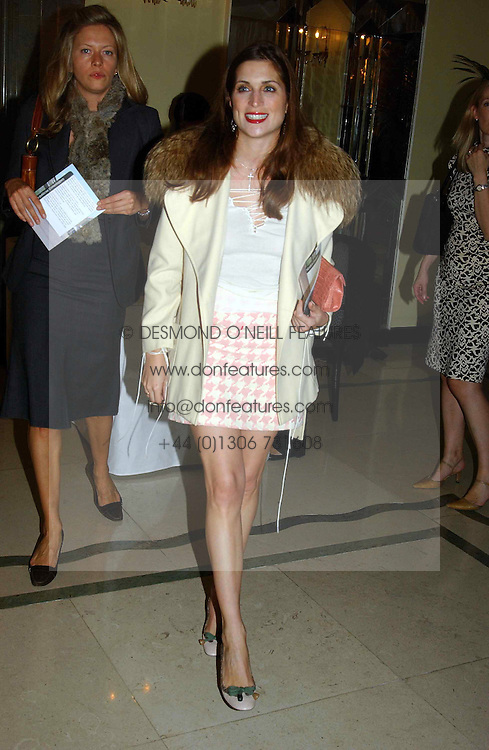 VANESSA NEUMANN at a party to celebrate the publication of Bruce Oldfield's autobiography &quot;Rootless&quot; held in aid of Crimestoppers at Claridge's, Brook Street, London W1 on 22nd September 2004.<br />
