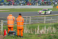 Autoaid/RCIB Insurance Racing #63 Ginetta G55 GT4 Matt Chapman/Sam Webster GT4 Silver during British GT Championship as part of the BRDC British F3/GT Championship Meeting at Oulton Park, Little Budworth, Cheshire, United Kingdom. April 15 2017. World Copyright Peter Taylor/PSP.  Copy of publication required for printed pictures.  Every used picture is fee-liable. http://archive.petertaylor-photographic.co.uk