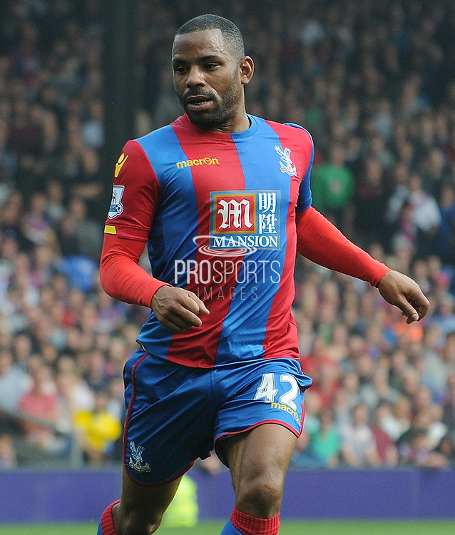 Jason Puncheon watching the play unfold during the Barclays Premier League match between Crystal Palace and West Bromwich Albion at Selhurst Park, London, England on 3 October 2015. Photo by Michael Hulf.