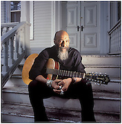 Richie Havens, musician. Photographed at his New Jersey home, for an ad for Fuji audio products.
