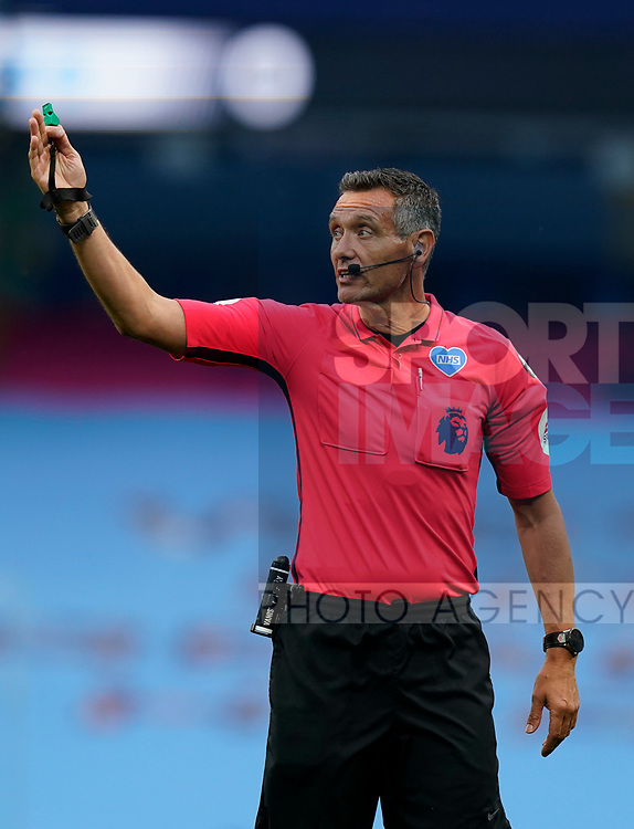 Referee Andre Marriner during the Premier League match at the Etihad Stadium, Manchester. Picture date: 22nd February 2020. Picture credit should read: Andrew Yates/Sportimage