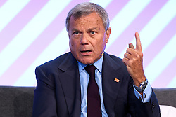 © Licensed to London News Pictures. 05/10/2016. Sir Martin Sorrell the Chief Executive Officer of WPP gives a keynote speech on the 5th anniversary of STEVE JOBS death at the Festival of Marketing where ambitious marketers can discover, learn, celebrate and shape the future together. London, UK. Photo credit: Ray Tang/LNP