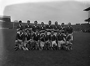 16/03/1958<br /> 03/16/1958<br /> 16 March 1958<br /> National Hurling League: Dublin v Cork at Croke Park, Dublin. Cork team.