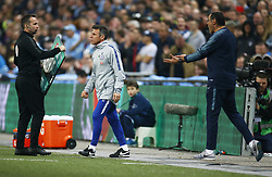 February 24, 2019 - London, England, United Kingdom - Chelsea manager Maurizio Sarri  not happy.during during Carabao Cup Final between Chelsea and Manchester City at Wembley stadium , London, England on 24 Feb 2019. (Credit Image: © Action Foto Sport/NurPhoto via ZUMA Press)