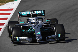 February 18, 2019 - Barcelona, Spain - The Finnish driver, Valtteri Bottas of Mercedes-AMG Petronas Motorsport, testing the new car during the first day of Formula One Test at Catalonia Circuit, on February 18, 2019 in Barcelona, Spain. (Credit Image: © Joan Cros/NurPhoto via ZUMA Press)