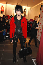 NAT WELLER son of musician Paul Weller at a party to celebrate the opening of the new H&M store at 234 Regent Street, London on 13th February 2008.<br /><br />NON EXCLUSIVE - WORLD RIGHTS