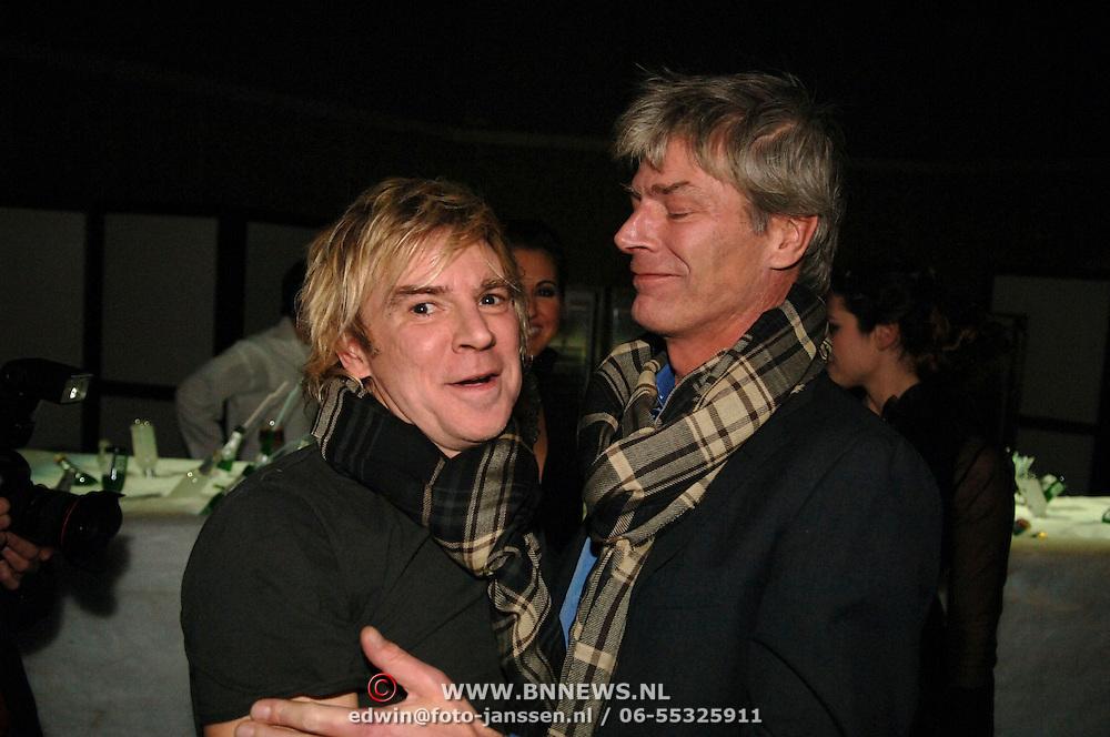 NLD/Amsterdam/20060125 - Modeshow Erny van Reijmersdal 2005, Erny en partner Werner Reijers