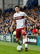 Tom Field (15) of Bradford City during the EFL Sky Bet League 1 match between Portsmouth and Bradford City at Fratton Park, Portsmouth, England on 28 October 2017. Photo by Graham Hunt.