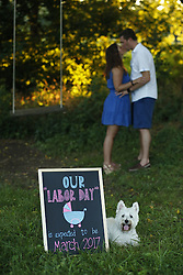 Jennie and Kevin baby announcement Thursday, Aug. 11, 2016 at Anchorage Park in Louisville.