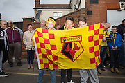 Young Watford fans during the Sky Bet Championship match between Watford and Sheffield Wednesday at Vicarage Road, Watford, England on 2 May 2015. Photo by Phil Duncan.