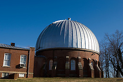 Leander McCormick Observatory at the top of Observatory Hill, Charlottesville, VA, January 6, 2008.  The 26 inch astrometric refractor telescope was the second largest in the world when the observatory was dedicated on April 13, 1865 (Thomas Jefferson's Birthday).